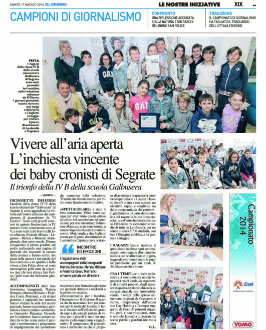 [G-MET - XIX]  GIORNO/GIORNALE/MET/04 … 17/05/14