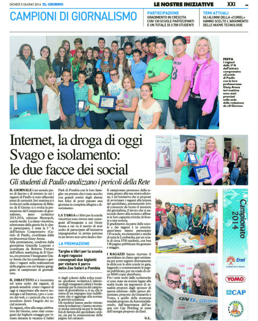 [G-MET - XXI]  GIORNO/GIORNALE/MET/60 … 05/06/14